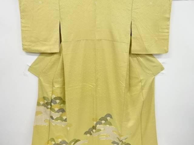 【IDnet】 ヱ霞に扇青海波模様刺繍五つ紋色留袖(比翼付き)【リサイクル】【中古】【着】