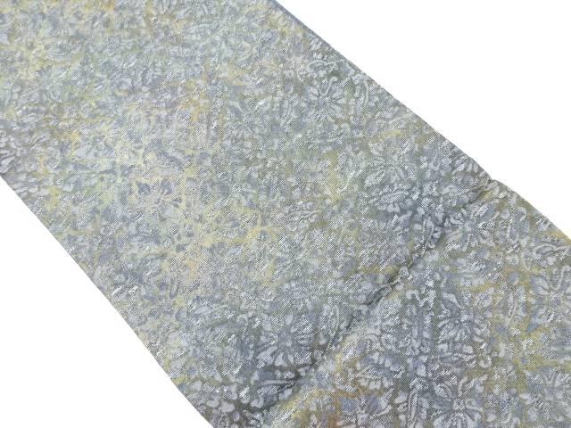 【IDnet】 未使用品 引箔小葵に花菱模様織り出し袋帯【リサイクル】【着】