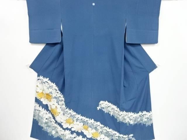 【IDnet】 東京ますいわ屋 金彩友禅菊模様刺繍一つ紋色留袖(重ね衿付き)【リサイクル】【中古】【着】