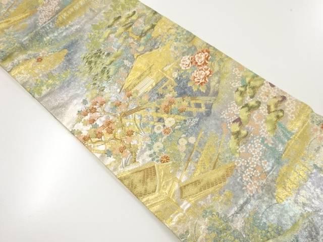 【IDnet】 本金鷹峯光悦寺模様織り出し袋帯【リサイクル】【中古】【着】