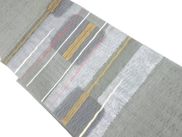 【IDnet】 すくい織り横段模様織り出し袋帯【リサイクル】【中古】【着】