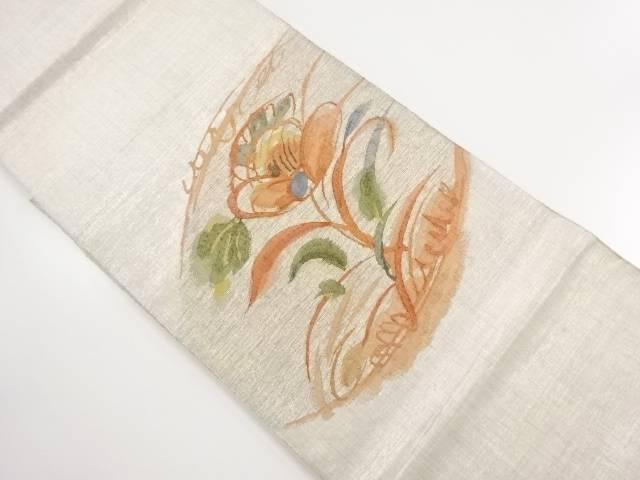 【IDnet】 引箔草花模様織り出し袋帯【リサイクル】【中古】【着】