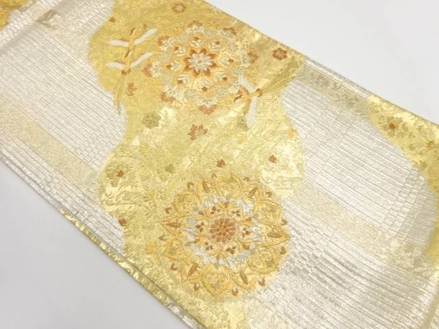 【IDnet】 鳳凰に華紋模様織出し袋帯【リサイクル】【中古】【着】