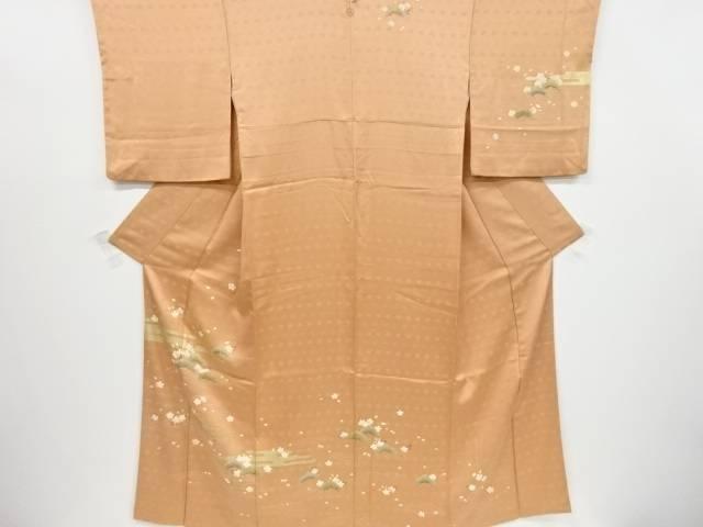 【IDnet】 東京ますいわ屋 金彩友禅ヱ霞に桜模様一つ紋訪問着【リサイクル】【中古】【着】