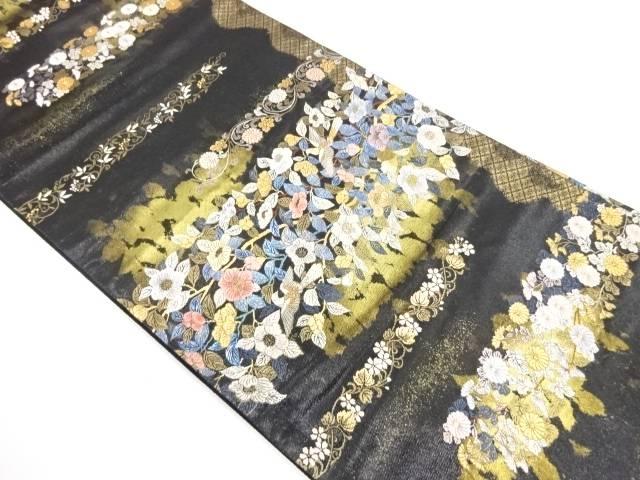 【IDnet】 花椿蒔絵文織出し袋帯【リサイクル】【中古】【着】