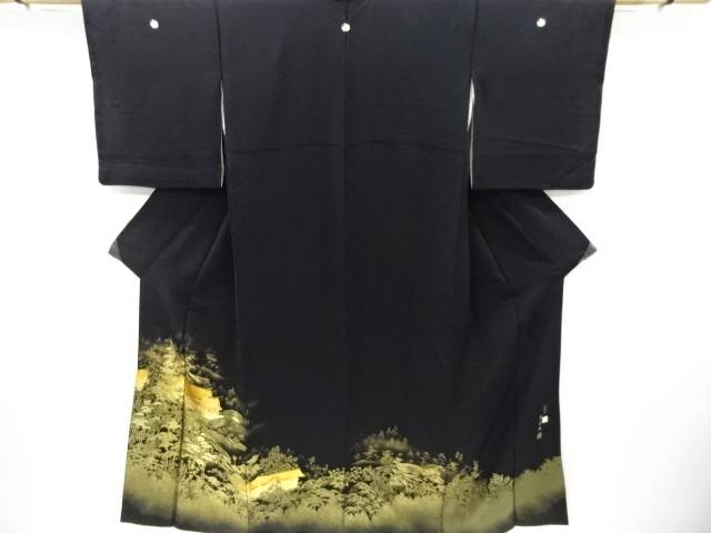 【IDnet】 寿光織箔置螺鈿水天宮模様留袖(比翼付き)【リサイクル】【中古】【着】