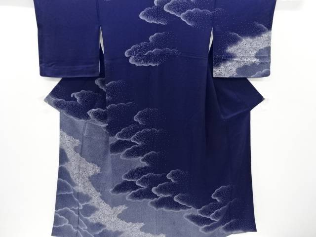 【IDnet】 雲に菊模様訪問着【リサイクル】【中古】【着】