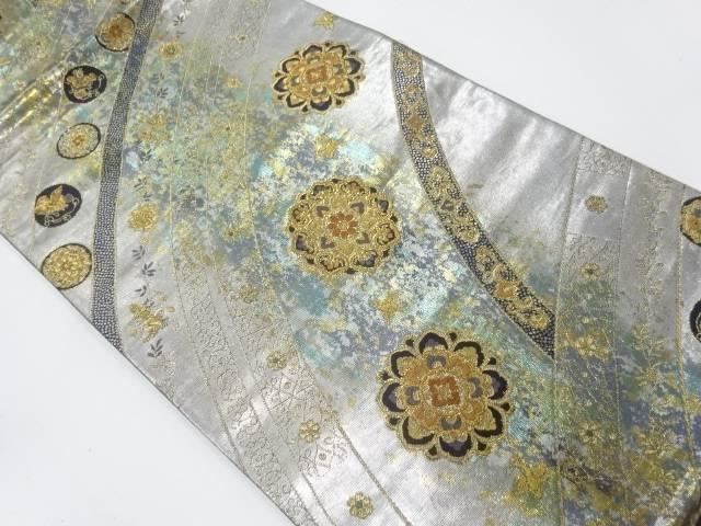 【IDnet】 花鳥に華紋模様織出し袋帯【リサイクル】【中古】【着】