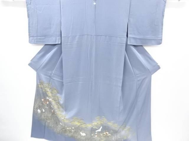 【IDnet】 金彩松原に菊・鶴模様一つ紋色留袖【リサイクル】【中古】【着】