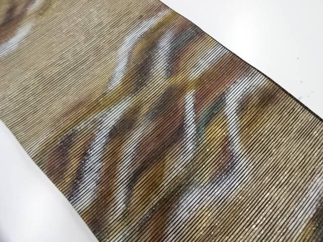 【IDnet】 紙布手引箔横段に抽象模様袋帯【リサイクル】【中古】【着】
