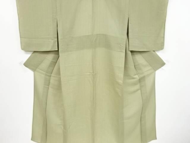 【IDnet】 紗紬縞模様織出単衣着物【リサイクル】【中古】【着】