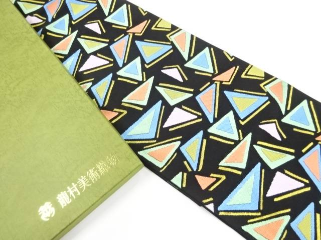 【IDnet】 未使用品 龍村美術織物製 たつむら製 彩角文織り出し本袋帯(未仕立て)【リサイクル】【着】