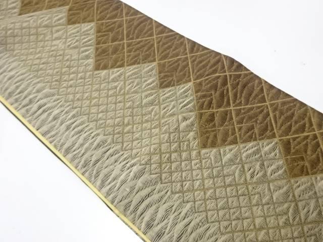 【IDnet】 辻梅製 抽象模様織出し袋帯【リサイクル】【中古】【着】