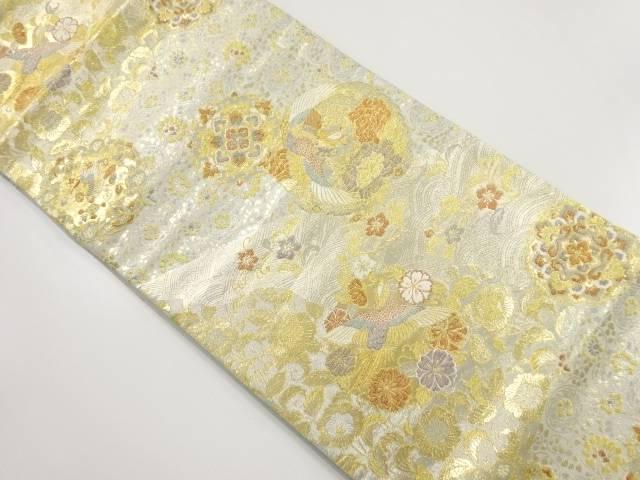 【IDnet】 本金花鳥丸紋織り出し袋帯【リサイクル】【中古】【着】
