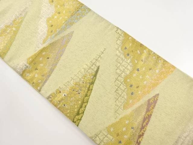 【IDnet】 本金 松菊梅模様織り出し袋帯【リサイクル】【中古】【着】