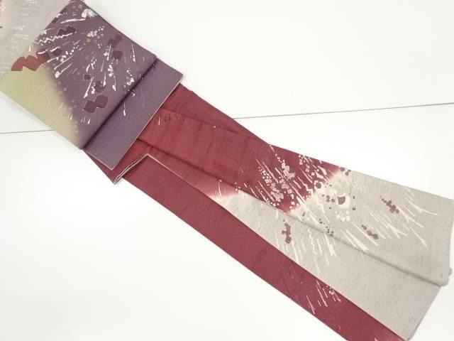 【IDnet】 無形文化財本場牛首紬抽象訪問着・袋帯セット【リサイクル】【中古】【着】
