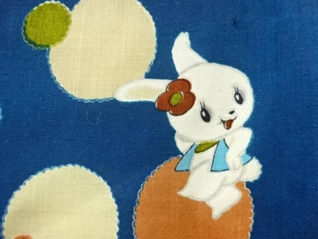 【IDnet】 兎に玩具模様着物【アンティーク】【中古】【着】