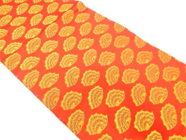【IDnet】 龍村美術織物製 貝模様織出し開き名古屋帯(額縁仕立て)【リサイクル】【中古】【着】