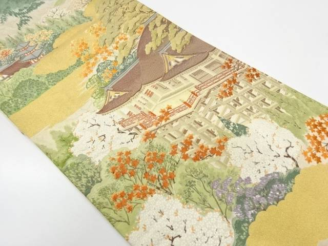 【IDnet】 京風景模様織出し袋帯【リサイクル】【中古】【着】