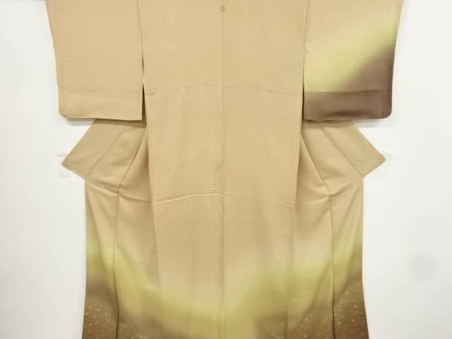 【IDnet】 寿光織霞にのり散らし模様織り出し一つ紋付け下げ訪問着【リサイクル】【中古】【着】