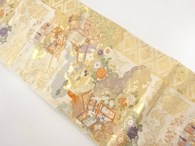 【IDnet】 本金祇園祭模様織り出し袋帯【リサイクル】【中古】【着】