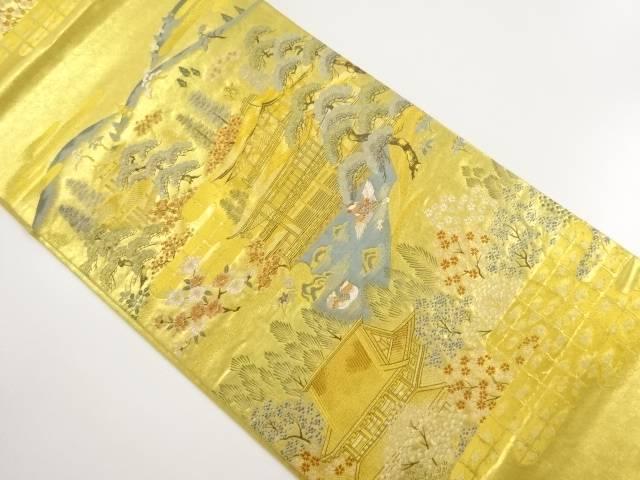 【IDnet】 本金箔慶京洛金閣寺模様織り出し袋帯【リサイクル】【中古】【着】