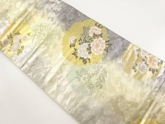 【IDnet】 弥栄織物製 本金箔 琳派雪輪文織り出し袋帯【リサイクル】【中古】【着】
