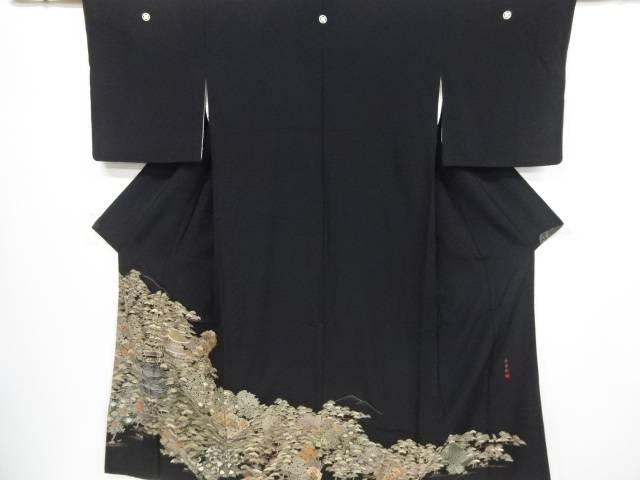 【IDnet】 呉県刺繍金閣寺模様留袖(比翼付き)【リサイクル】【中古】【着】