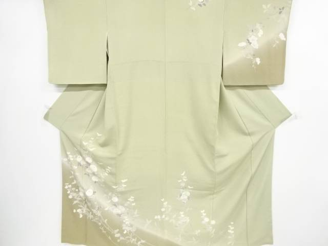 【IDnet】 作家物 手描友禅万寿菊に桜模様訪問着【リサイクル】【中古】【着】