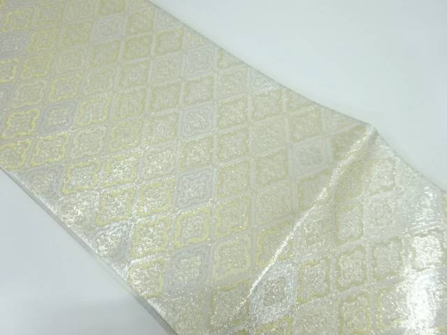 【IDnet】 未使用品 志織製 襷に花模様織出し袋帯【リサイクル】【着】