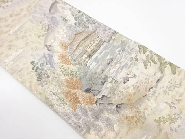 【IDnet】 本金箔金閣寺風景模様織出し袋帯【リサイクル】【中古】【着】