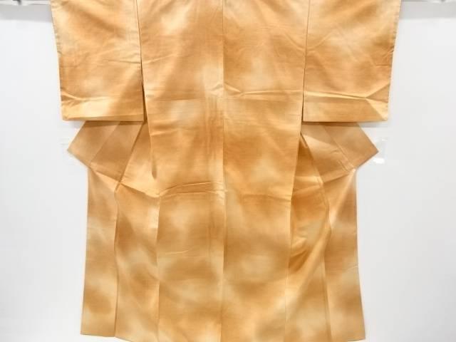【IDnet】 暈し柄織り出し手織り真綿紬着物【リサイクル】【中古】【着】