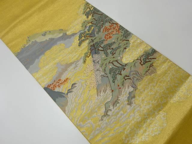 【IDnet】 箔金綴山並みに松・桜模様織出し袋帯【リサイクル】【中古】【着】