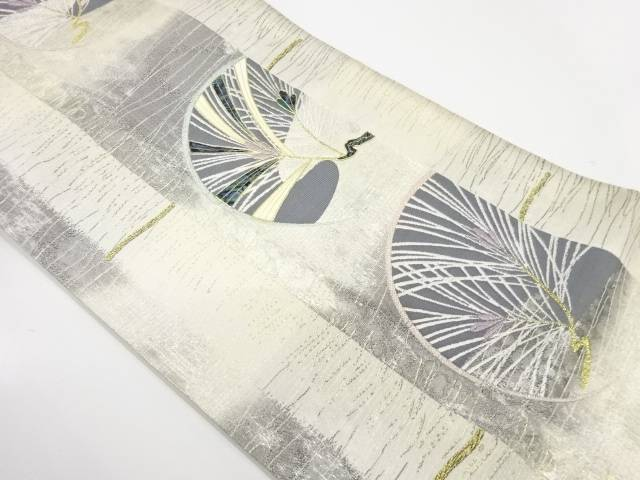 【IDnet】 田原大製 螺鈿松模様織出し袋帯【リサイクル】【中古】【着】