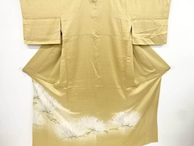 【IDnet】 松模様刺繍一つ紋色留袖(重ね衿付き)【リサイクル】【中古】【着】