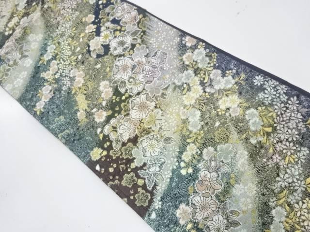 【IDnet】 草花模様織出し暈し袋帯【リサイクル】【中古】【着】