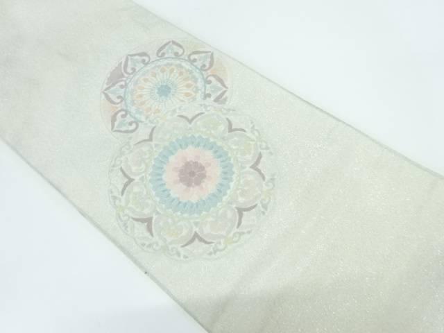 【IDnet】 相良刺繍絵皿模様袋帯【リサイクル】【中古】【着】