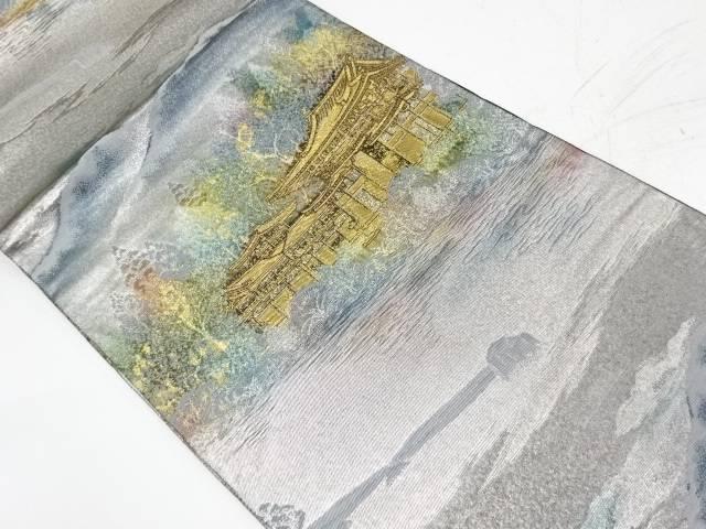 【IDnet】 寺院風景模様織出し袋帯【リサイクル】【中古】【着】