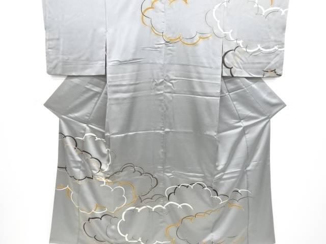 【IDnet】 雲模様一つ紋訪問着【リサイクル】【中古】【着】