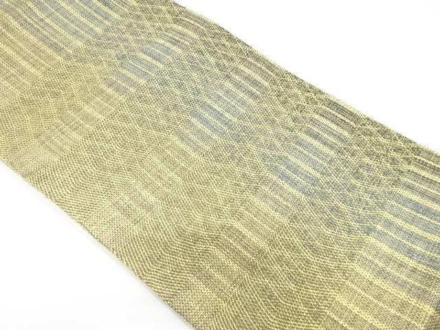 【IDnet】 未使用品 変わり縞模様織出し袋帯【リサイクル】【着】