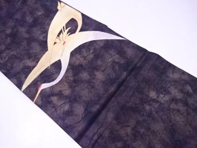【IDnet】 袋帯 金糸刺繍入り 飛鶴文【リサイクル】【中古】【着】