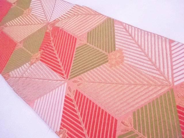 【IDnet】 袋帯 西陣織 金糸 幾何学松葉文【リサイクル】【中古】【着】