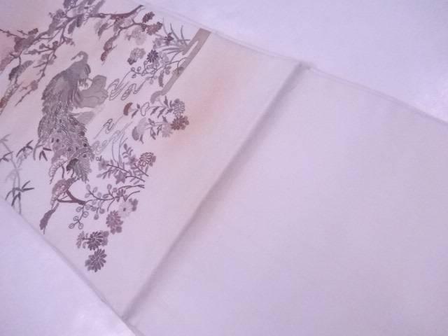 【IDnet】 袋帯 相良刺繍 孔雀と古典草花文【リサイクル】【中古】【着】