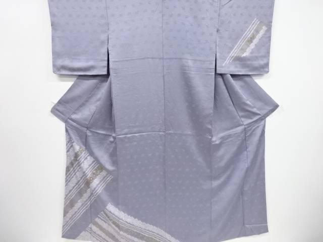 【IDnet】 未使用品 仕立て上がり 絞り斜め縞に花模様刺繍訪問着【着】