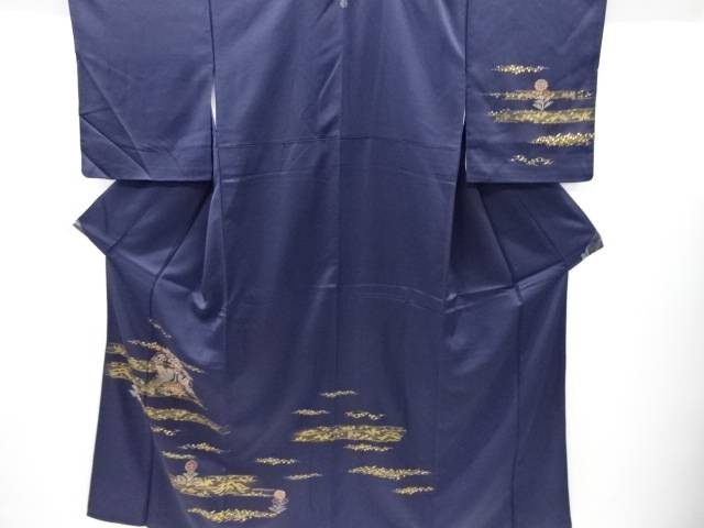 【IDnet】 金彩花鳥模様刺繍一つ紋訪問着【リサイクル】【中古】【着】