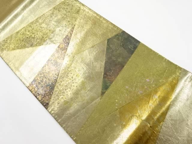 IDnet引箔螺鈿切りばめ風箔散らし模様織り出し袋帯 リサイクル着08wXnPOk