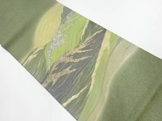 【IDnet】 作家物 抽象波模様袋帯【リサイクル】【中古】【着】