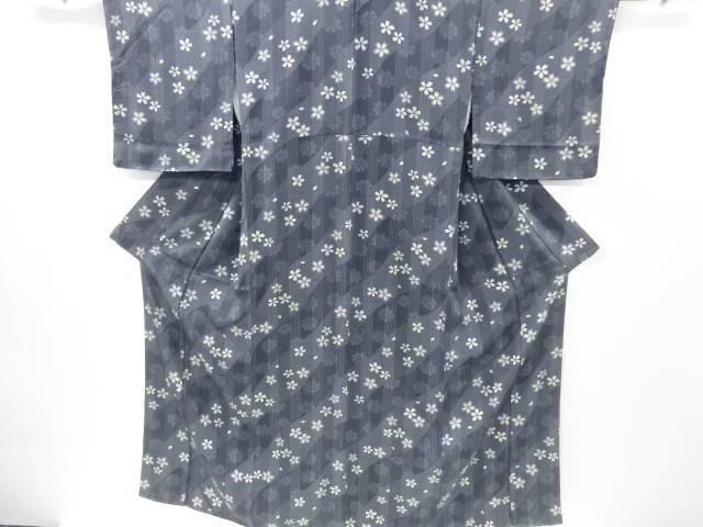 【IDnet】 未使用品 仕立て上がり 桜模様小紋着物【着】