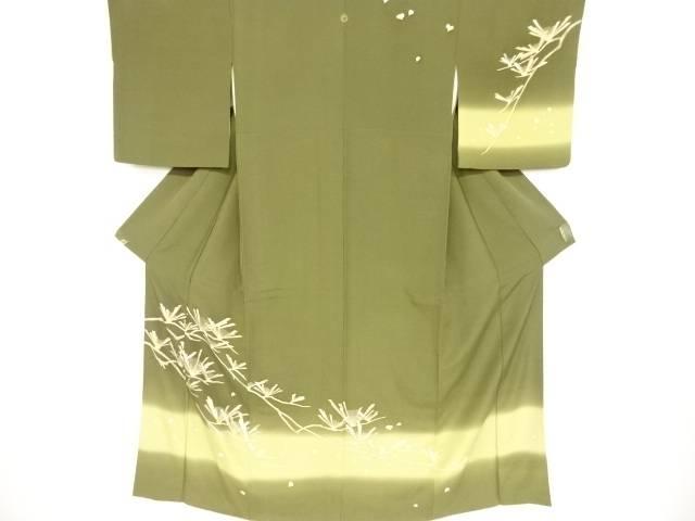 【IDnet】 金彩友禅松に花模様一つ紋訪問着【リサイクル】【中古】【着】