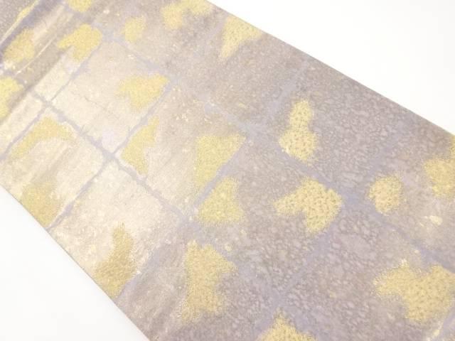 【IDnet】 引箔屏風箔模様織り出し袋帯【リサイクル】【中古】【着】